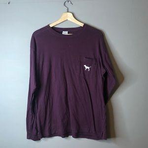 PINK Victoria's Secret Long Sleeve Purple Top